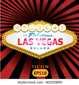 Welcome to Fabulous Las Vegas Nevada. Vector illustration.