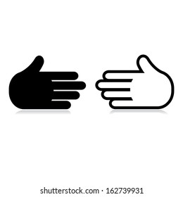 welcome gesture. vector icons of hand. eps8