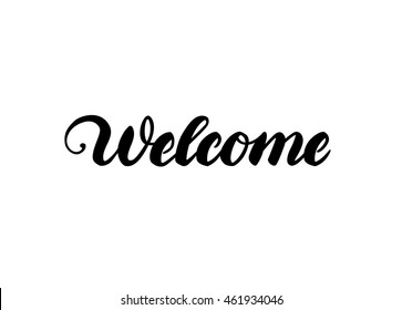 """""""Welcome"""" hand lettering"""