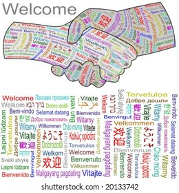 welcome hands in multiple languages