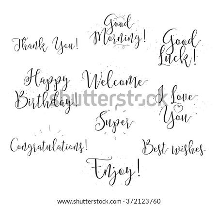 Welcome Happy Birthday Love You Good Stock Vector Royalty Free