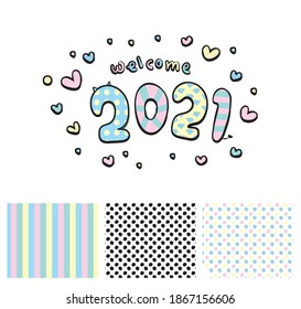 welcome happy a new year vector image