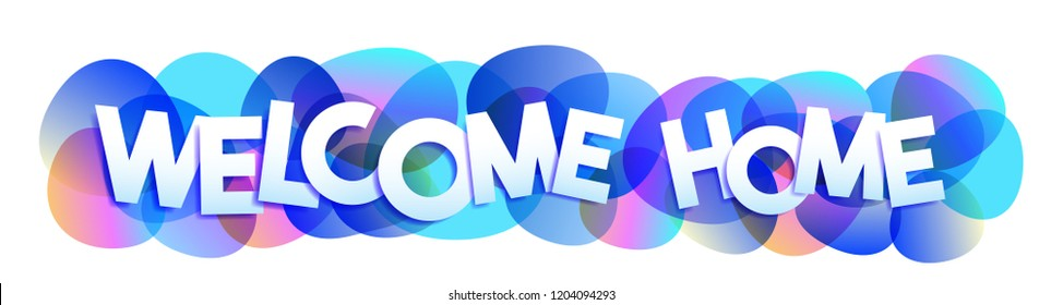 Welcome Home sign text vector banner