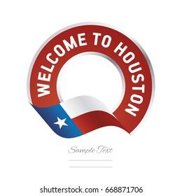 Welcome to Houston Texas flag logo icon