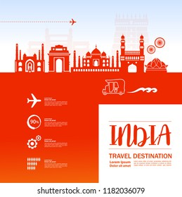 Welcome to India vector illustration.
