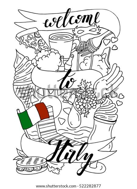Image Vectorielle De Stock De Bienvenue En Italie De La Banniere