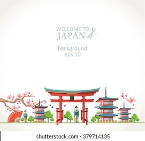 welcome to Japan background panorama