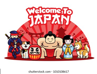 welcome to japan greeting design