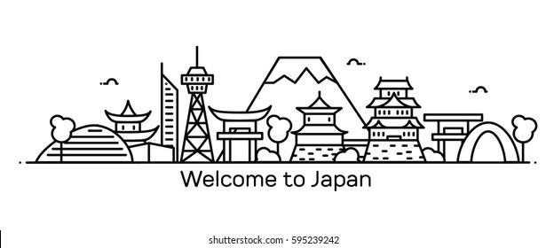 Welcome to Japan. Vector illustration