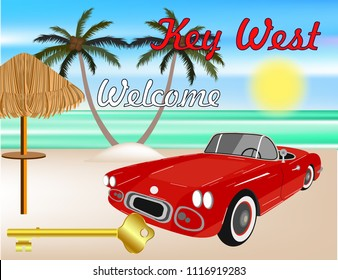 Welcome Key West banner decor