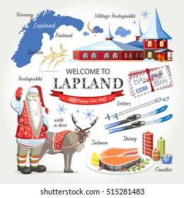 welcome to Lapland Santa christmas set