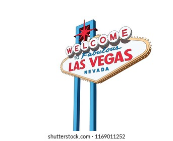 Welcome to Las Vegas Nevada sign vector illustration isolation.