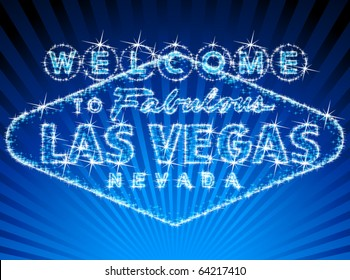 Welcome To Las Vegas stars shinning sign