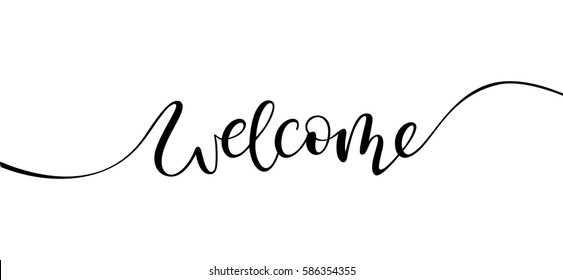welcome lettering sign