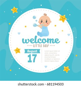 Baby Boy Announcement Stock Images RoyaltyFree Images Vectors - Boy announcement
