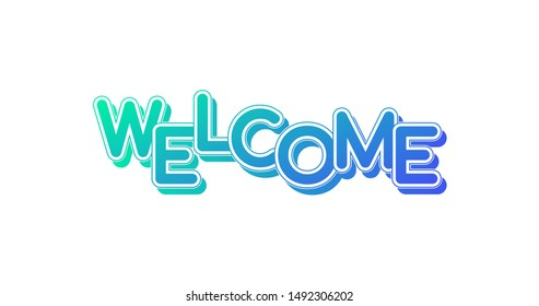 Welcome logo letters on white background