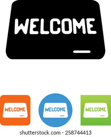 Welcome mat icon