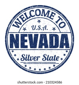 Welcome to Nevada grunge rubber stamp on white background, vector illustration