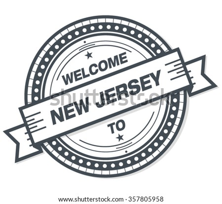 Welcome To New Jersey Stamp Badge