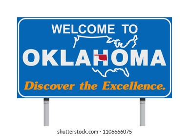 Welcome to Oklahoma road sign