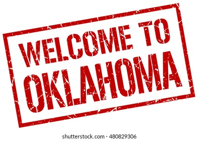 welcome to Oklahoma stamp. Oklahoma grunge vintage isolated square stamp. welcome to Oklahoma.