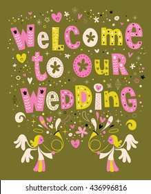 Welcome to our wedding card invitation