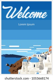 Welcome to Paradise Island Travel Poster