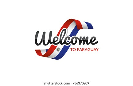 Welcome to Paraguay flag sign logo icon