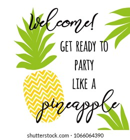 Pineapple Sayings Images, Stock Photos & Vectors | Shutterstock