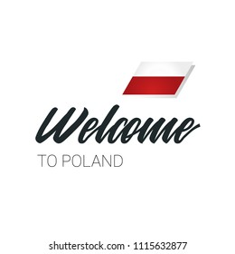 Welcome to Poland Text, Flag