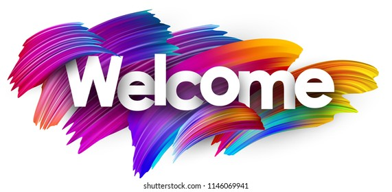 I am new here Welcome-poster-spectrum-brush-strokes-260nw-1146069941