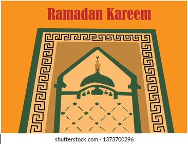 Welcome Ramadan Kareem. This is Sajadah or prayer mat. This is used for sholat (Pray in Moslem).