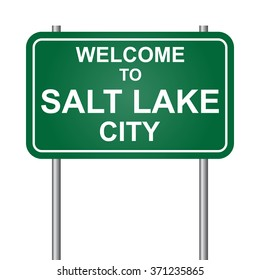 Welcome to Salt Lake City, green signal vector