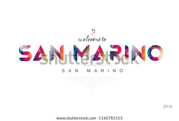 Welcome San Marino San Marino Card Stock Vector (Royalty ...