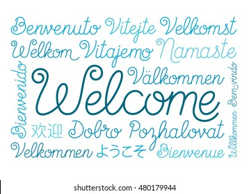 Welcome Script in Different Languages