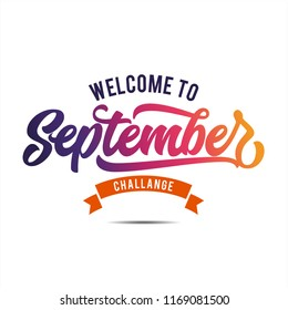 Welcome to September, Hello September, Vector for greeting new month