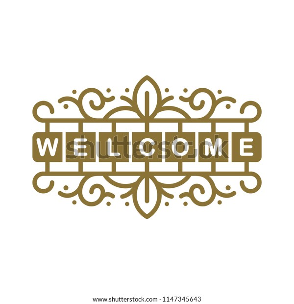 welcome sign icon symbol vector illustration