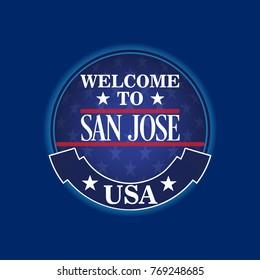 Welcome Sign San Jose, USA City