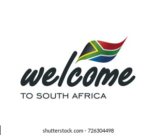 Welcome to South Africa flag sign logo icon