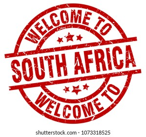 welcome to South Africa red stamp