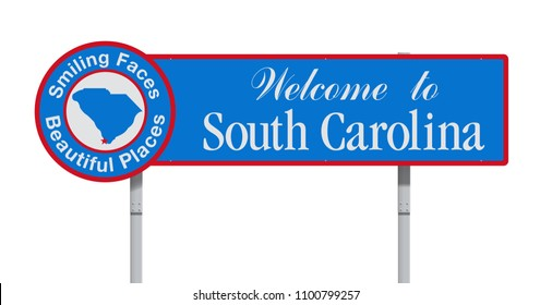 Welcome to South Carolina road sign