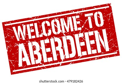 welcome to. Aberdeen. stamp
