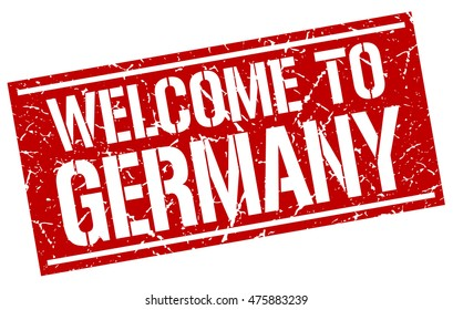 welcome to. Germany. stamp