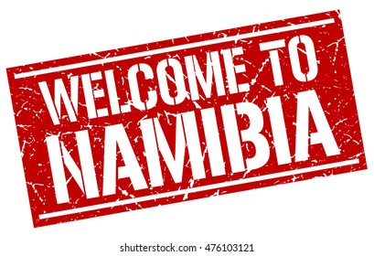 welcome to. Namibia. stamp