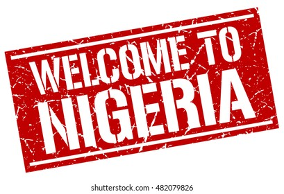 welcome to. Nigeria. stamp