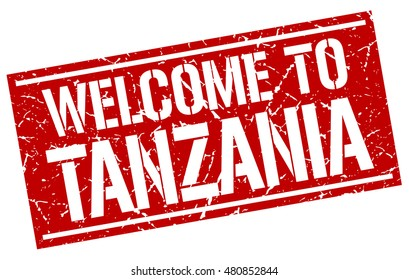 welcome to. Tanzania. stamp
