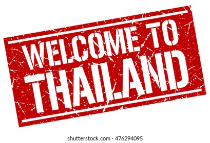 welcome to. Thailand. stamp