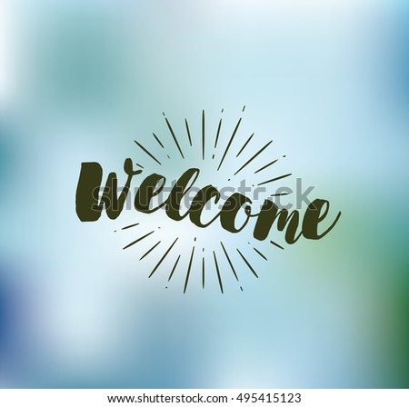Welcome typography poster invitation greeting card stock vector welcome typography for poster invitation greeting card or t shirt vector m4hsunfo