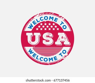 Welcome to USA Sign Badge
