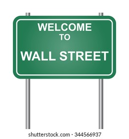 Welcome to Wall Street vector